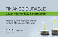 Envie de vous former en finance durable? 23-24 février et 2-3 mars 2018